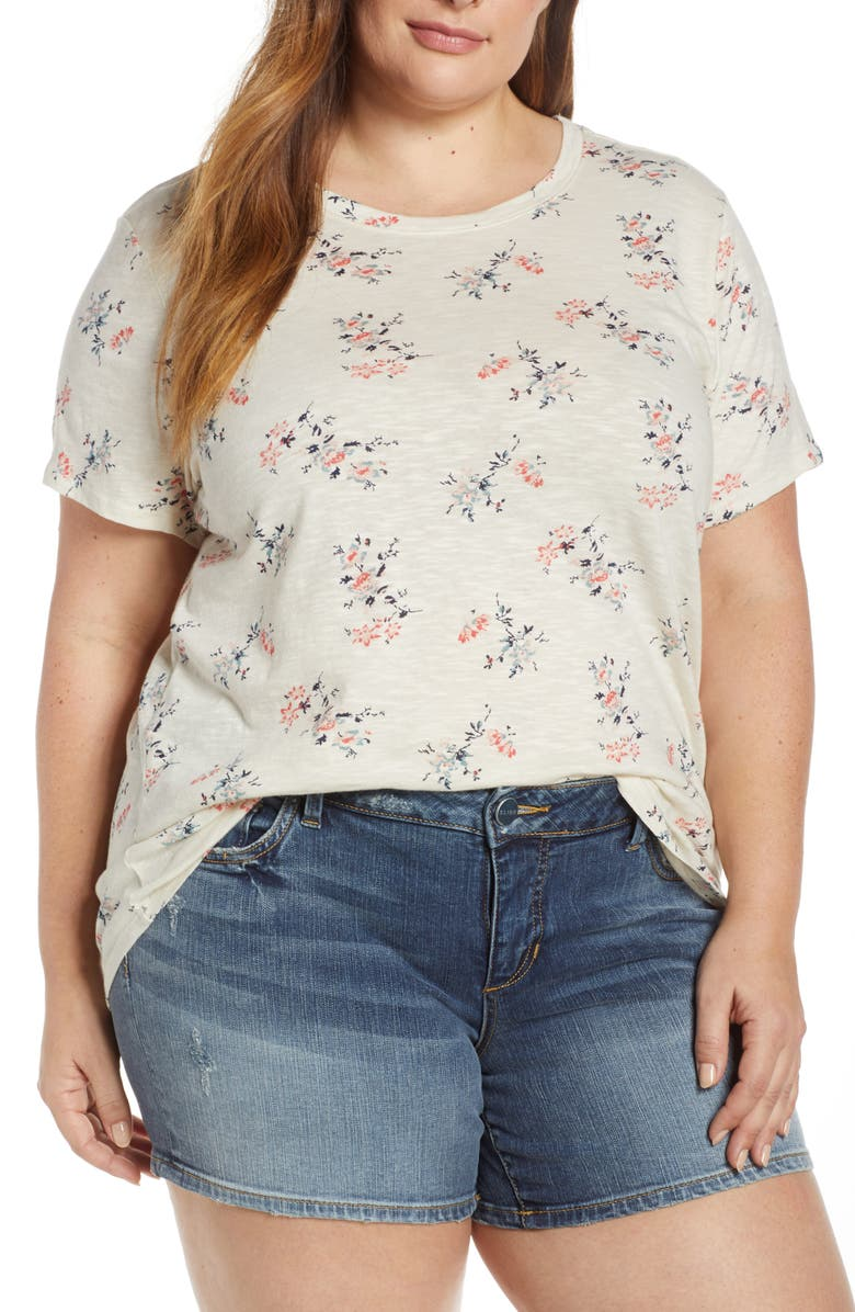 LUCKY BRAND All Over Floral Tee, Main, color, 100