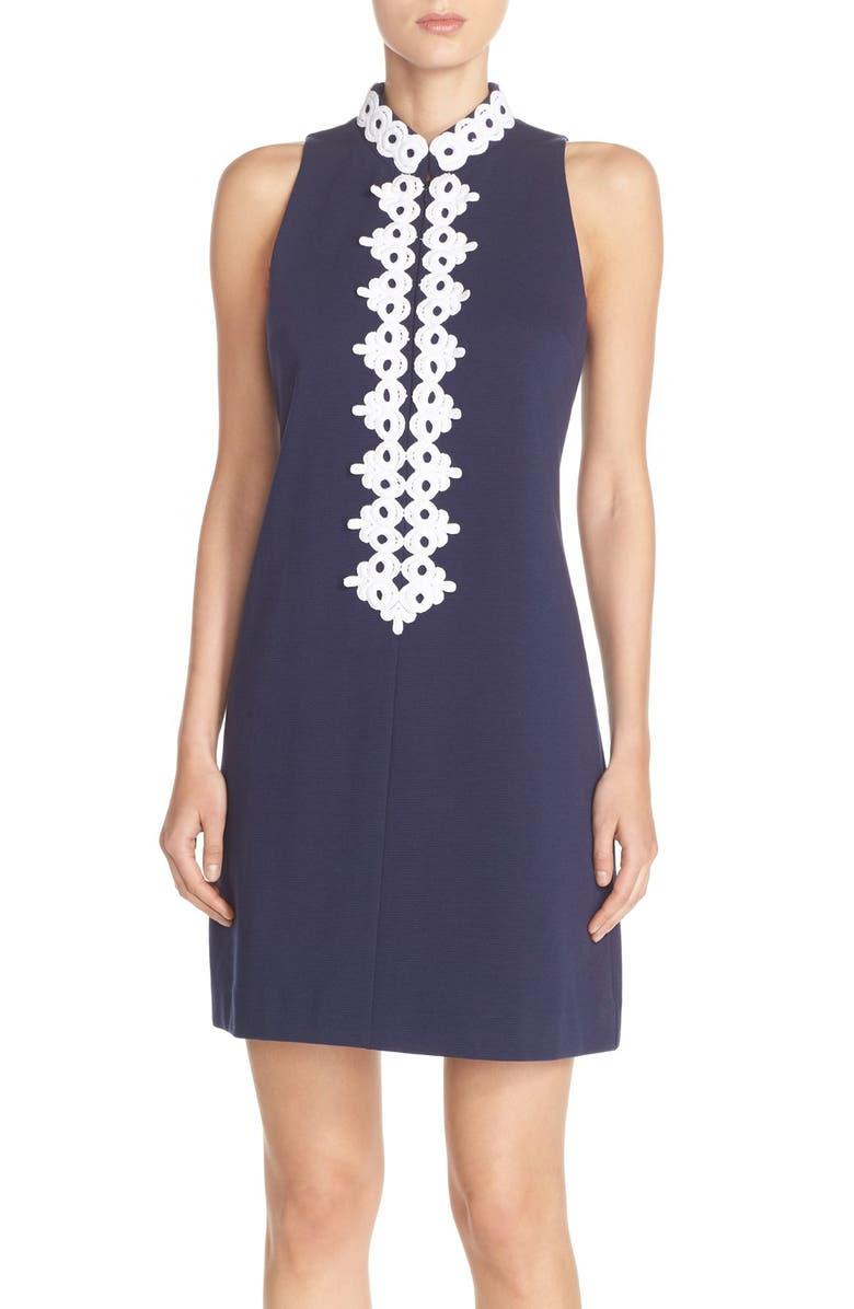 LILLY PULITZER<SUP>®</SUP> 'Callista' Ottoman Sheath Dress, Main, color, TRUE NAVY