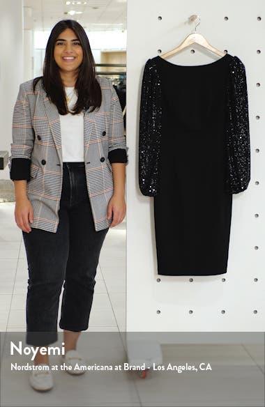Sequin Blouson Sleeve Cocktail Dress, sales video thumbnail