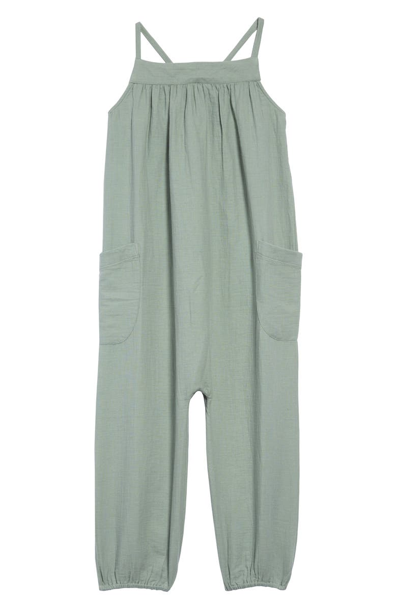 STEM Organic Cotton Jumpsuit, Main, color, GREEN LILYPAD