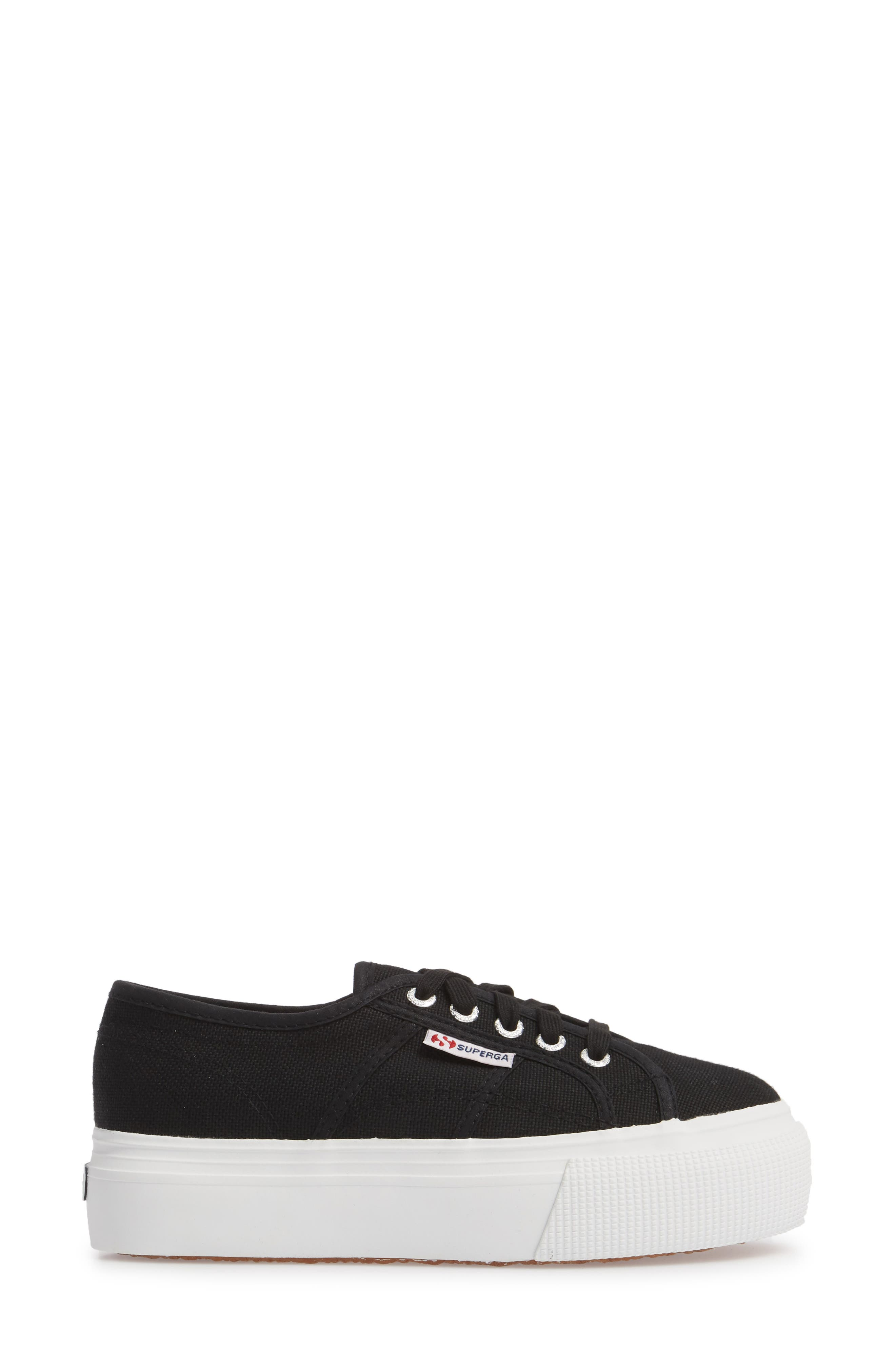 ,                             'Acot Linea' Sneaker,                             Alternate thumbnail 3, color,                             BLACK/ WHITE