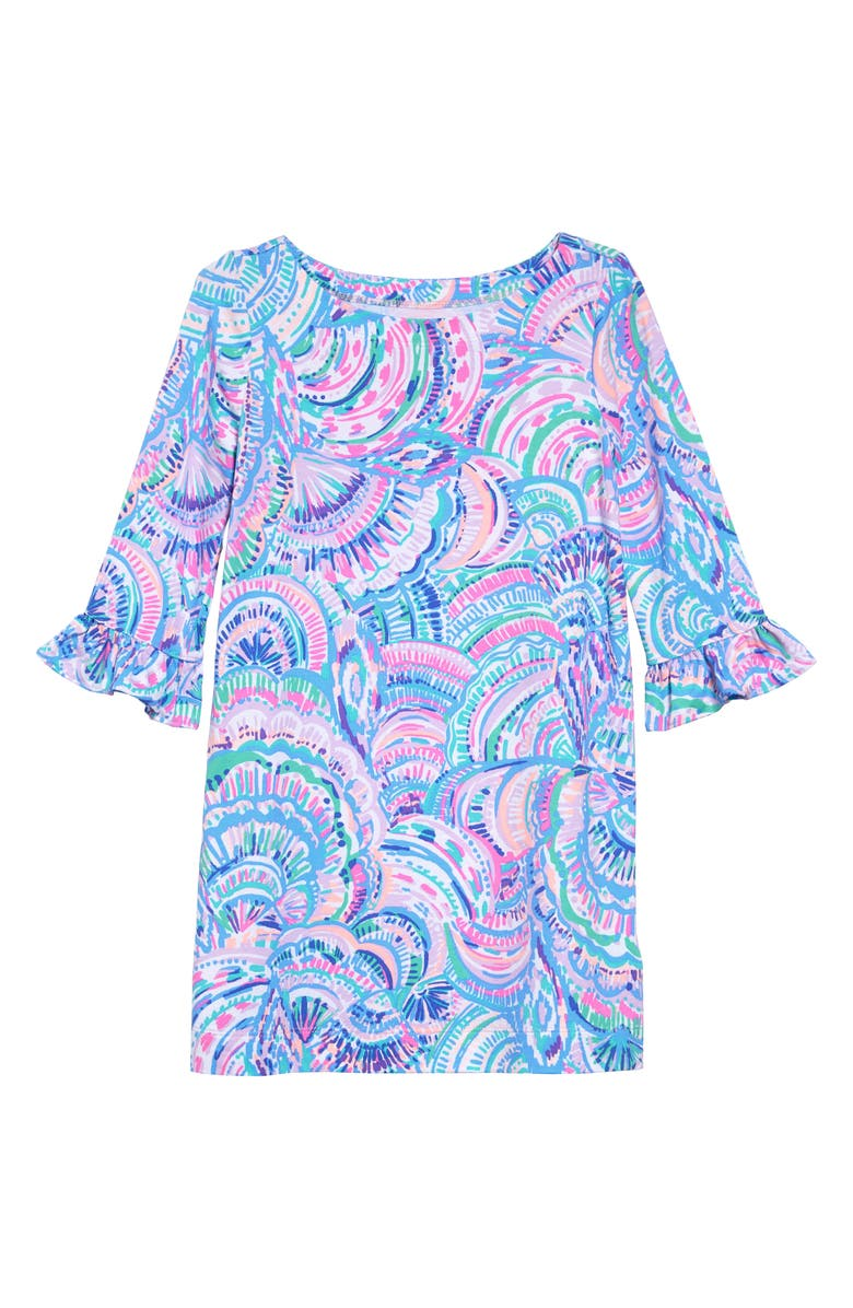 LILLY PULITZER<SUP>®</SUP> Mini Sophie Ruffle UPF 50+ Dress, Main, color, MULTI HAPPY AS A CLAM