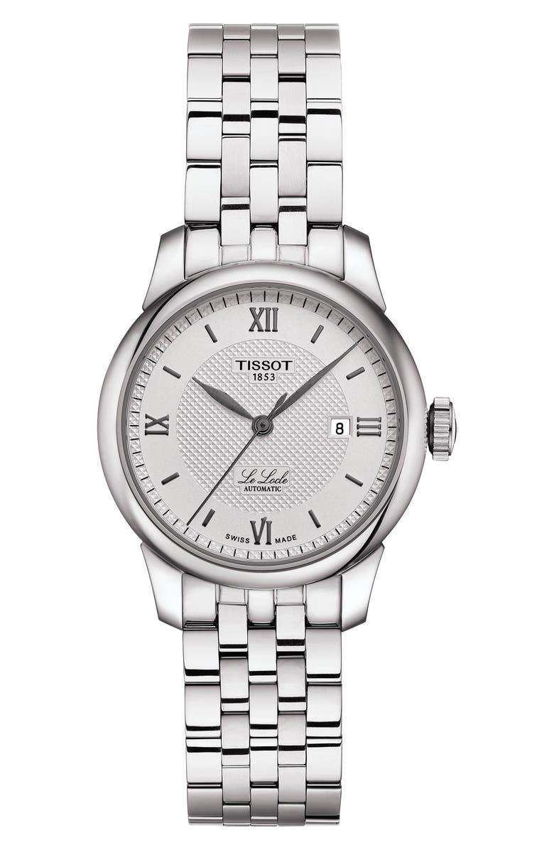 TISSOT Le Locle Bracelet Watch, 29mm, Main, color, SILVER