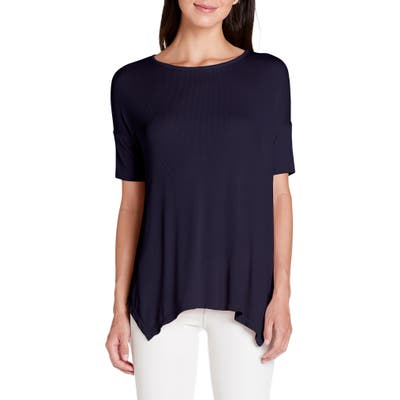 Michael Stars Ryann Ribbed Tunic Top, Size One Size - Blue/green