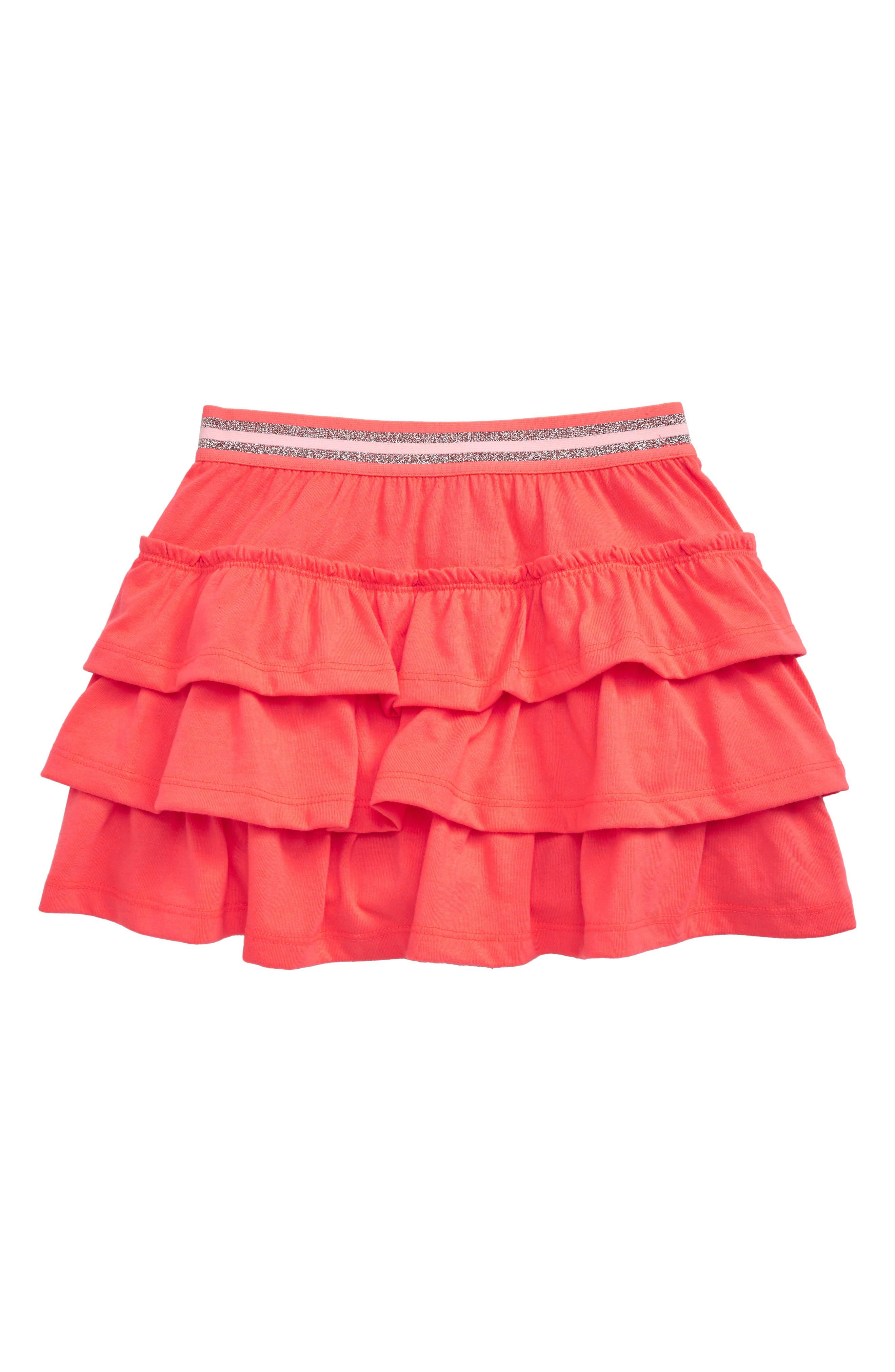 Toddler Girls Mini Boden Pretty Jersey Ruffle Skort Size 34Y  Pink