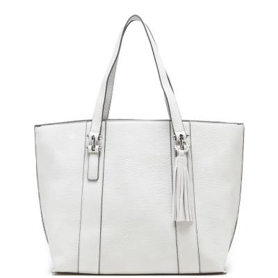 Sole Society March Faux Leather Tote - Ivory