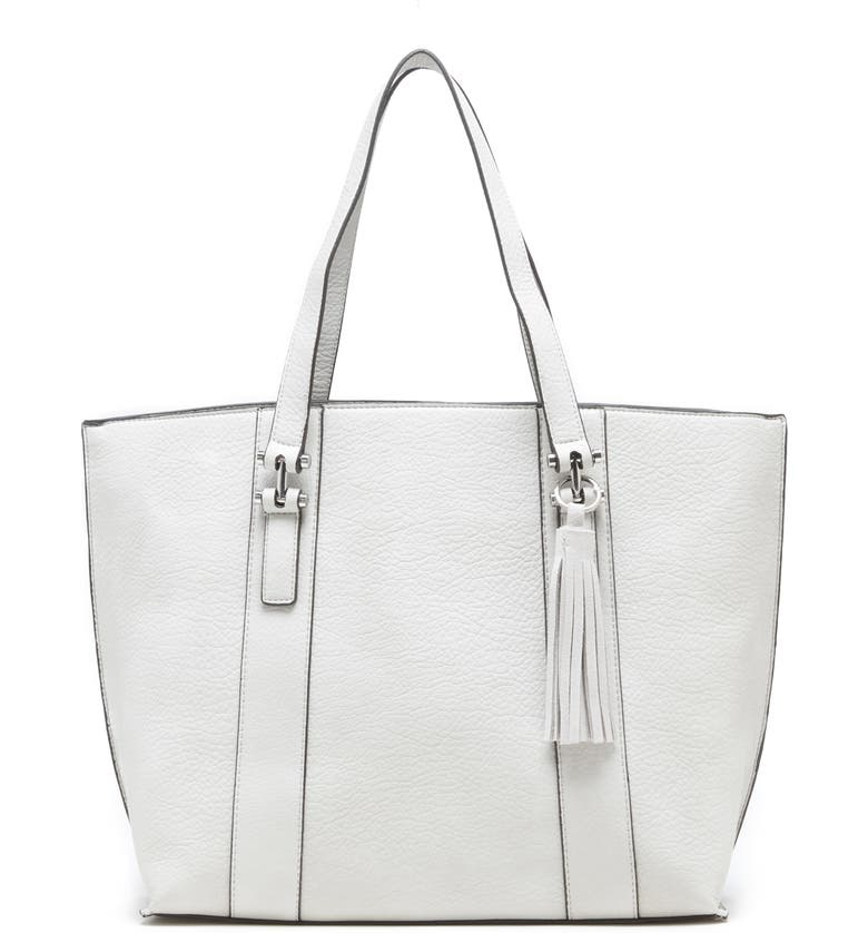 SOLE SOCIETY March Faux Leather Tote, Main, color, LINEN