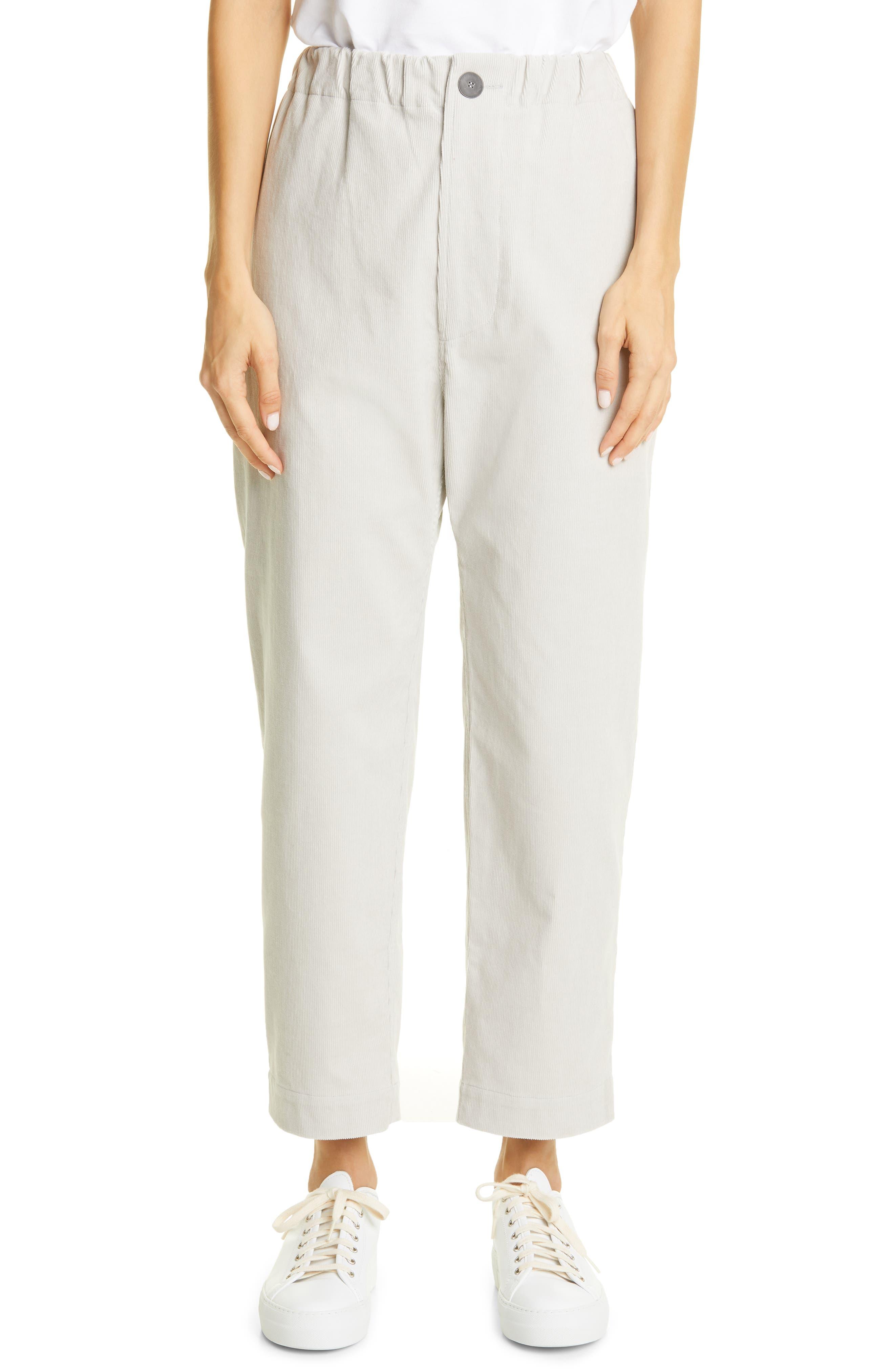 Sofie D'Hoore Crop Straight Leg Corduroy Pants | Nordstrom