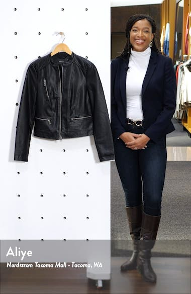 Favo Faux Leather Jacket, sales video thumbnail