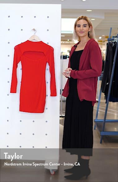 Cutout Long Sleeve Minidress, sales video thumbnail