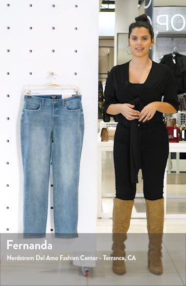 Side Slit Slim Straight Jeans, sales video thumbnail