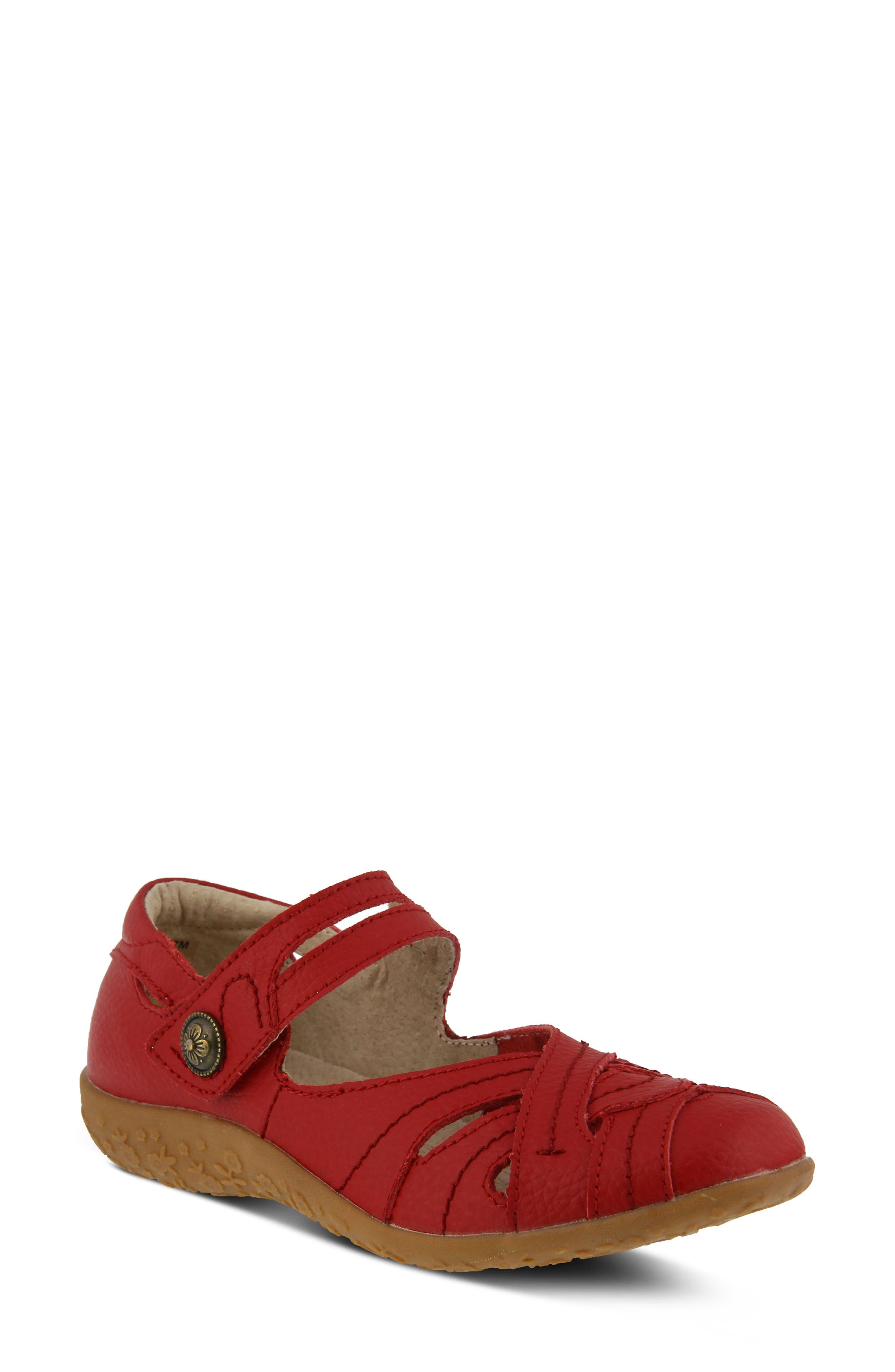 Spring Step Hearts Flat, Red