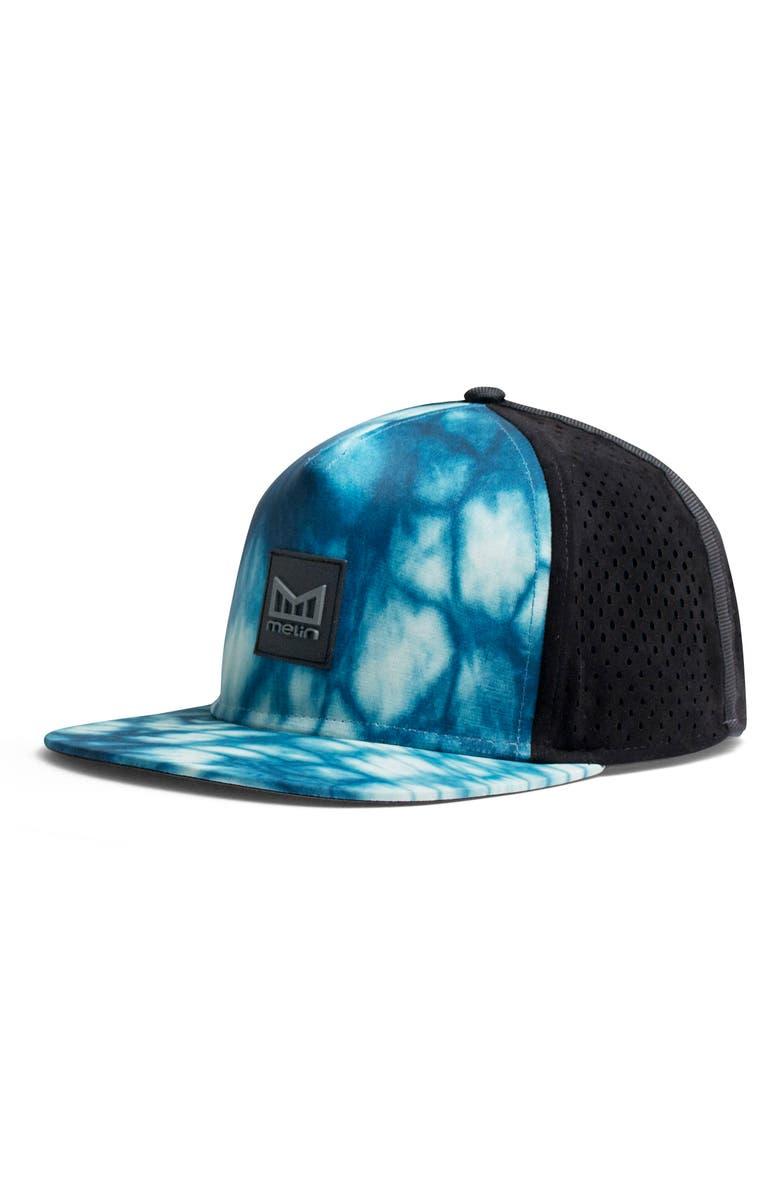 MELIN 'The Nomad' Split Fit Snapback Baseball Cap, Main, color, BLUE SHIBORI