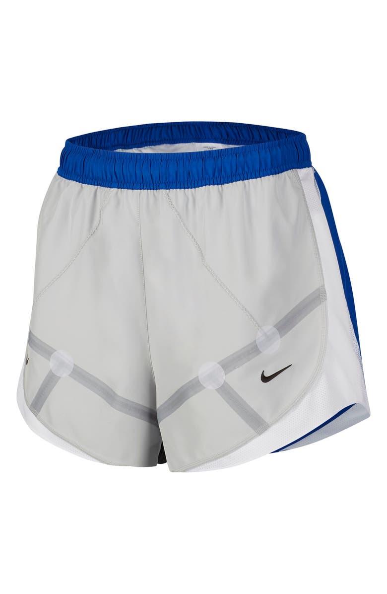 NIKE Ispa Tempo Running Shorts, Main, color, GREY FOG/ GAME ROYAL/ BLACK