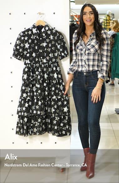 x Atlantic-Pacific Metallic Star Chiffon Dress, sales video thumbnail