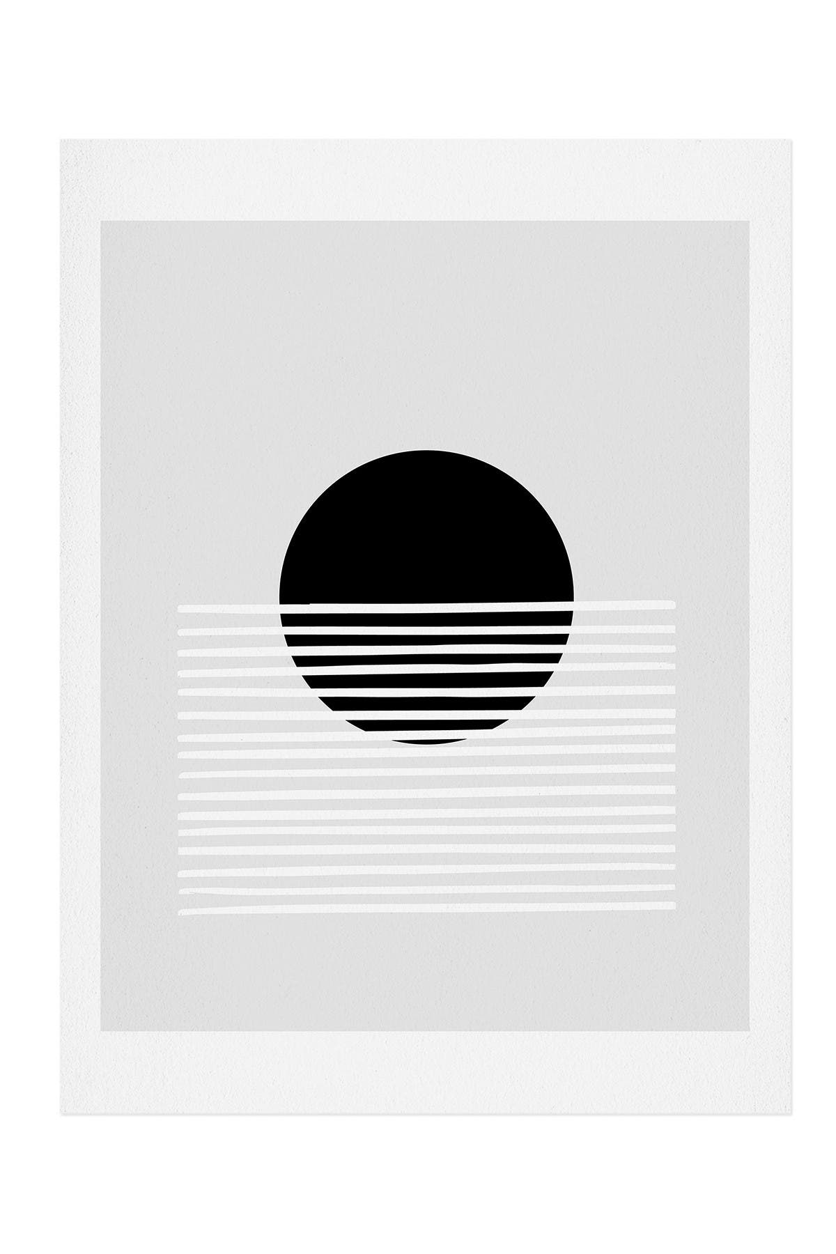 Image of Deny Designs Mambo Art Studio Sunset Monochrome Art Print