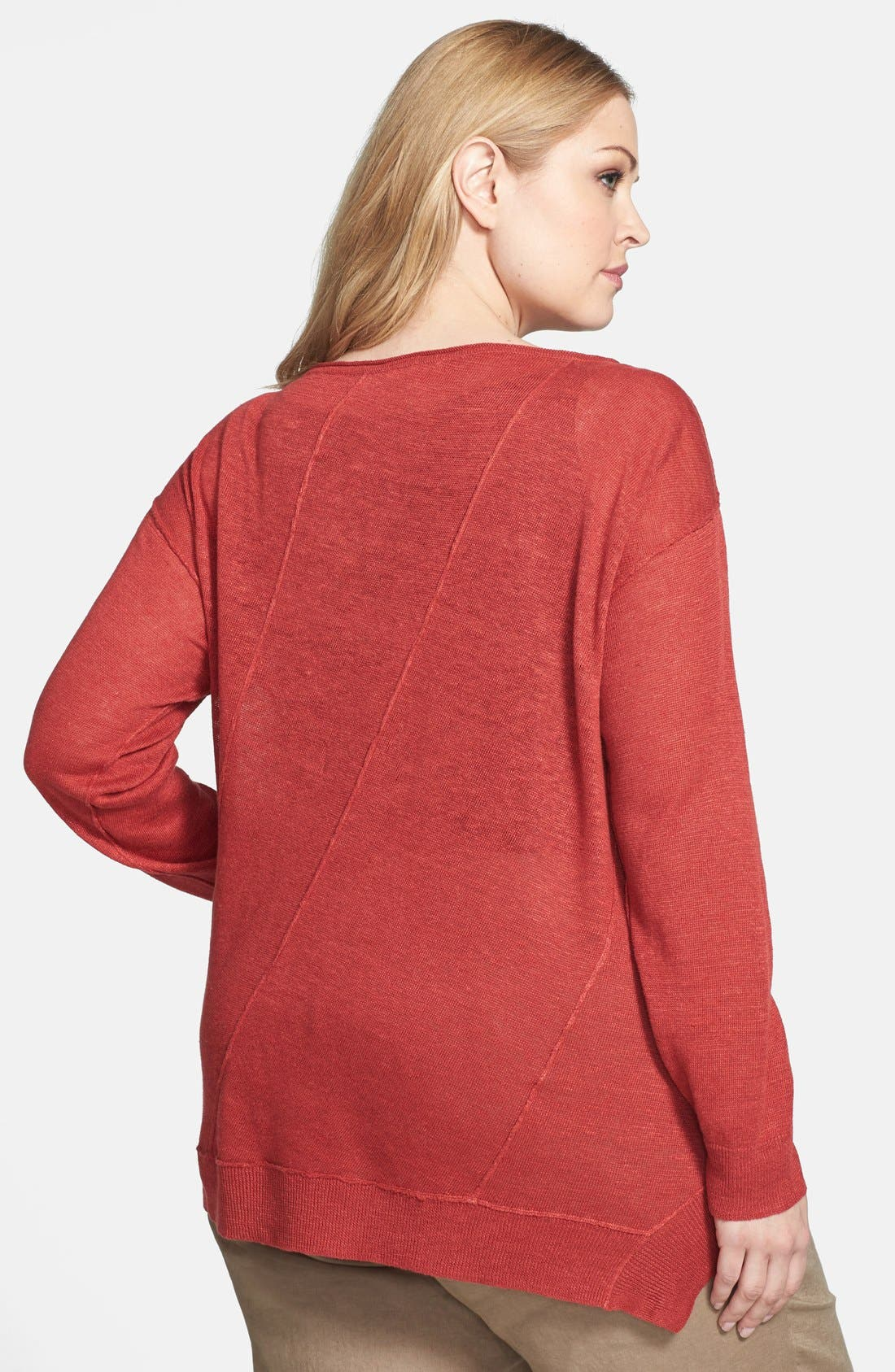 ,                             Organic Linen Boat Neck Top,                             Alternate thumbnail 14, color,                             600