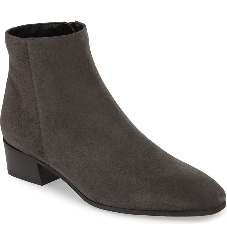AQUATALIA Fuoco Water Resistant Bootie, Main, color, GREY SUEDE