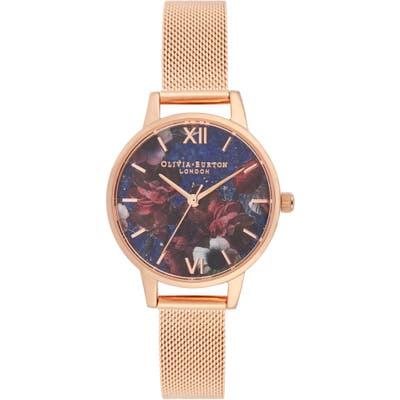 Olivia Burton Floral Print Bracelet Watch, 2m