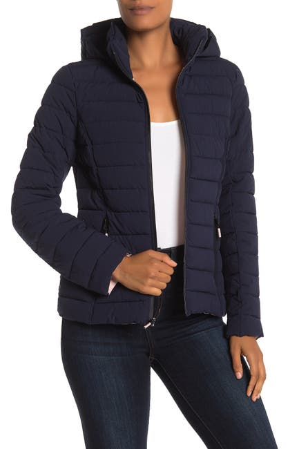 Image of Nautica Stretch Puffer Water Resistant Jacket