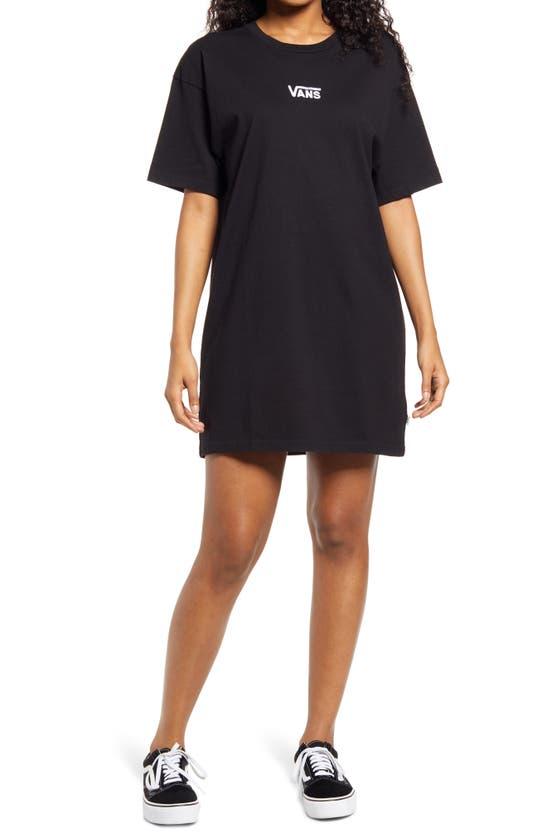 Vans Center Vee Cotton T-shirt Dress In Black