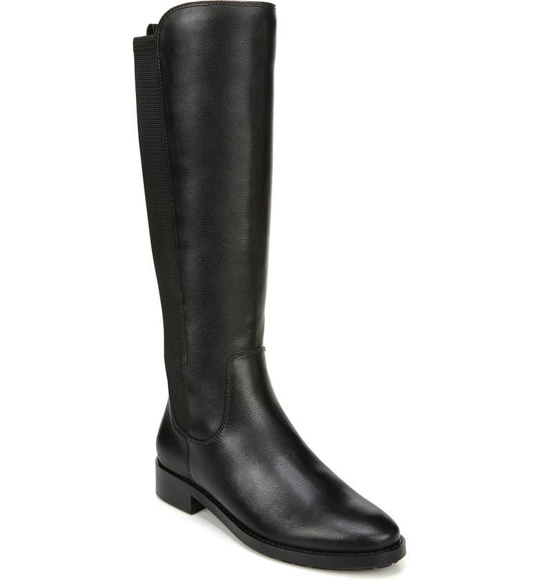 27 EDIT Kristi Knee High Boot, Main, color, BLACK LEATHER