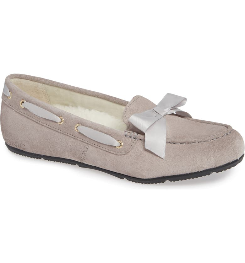 VIONIC Alice Moccasin, Main, color, LIGHT GREY SUEDE