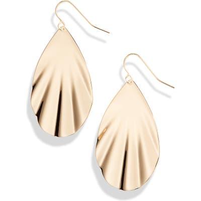 Halogen Rippled Teardrop Earrings