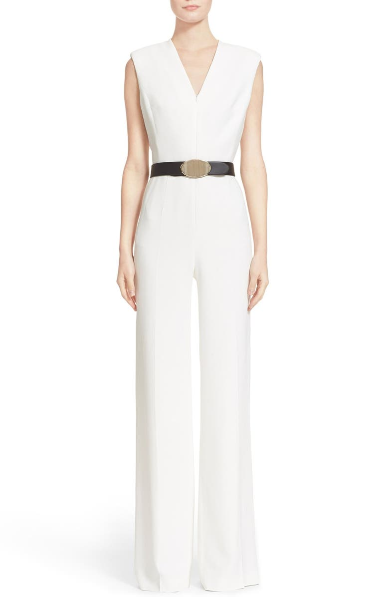 ESCADA Sleeveless Wide Leg Jumpsuit, Main, color, 102
