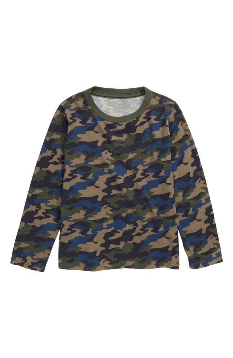 TUCKER + TATE Camo T-Shirt, Main, color, NAVY CHARCOAL CAMO