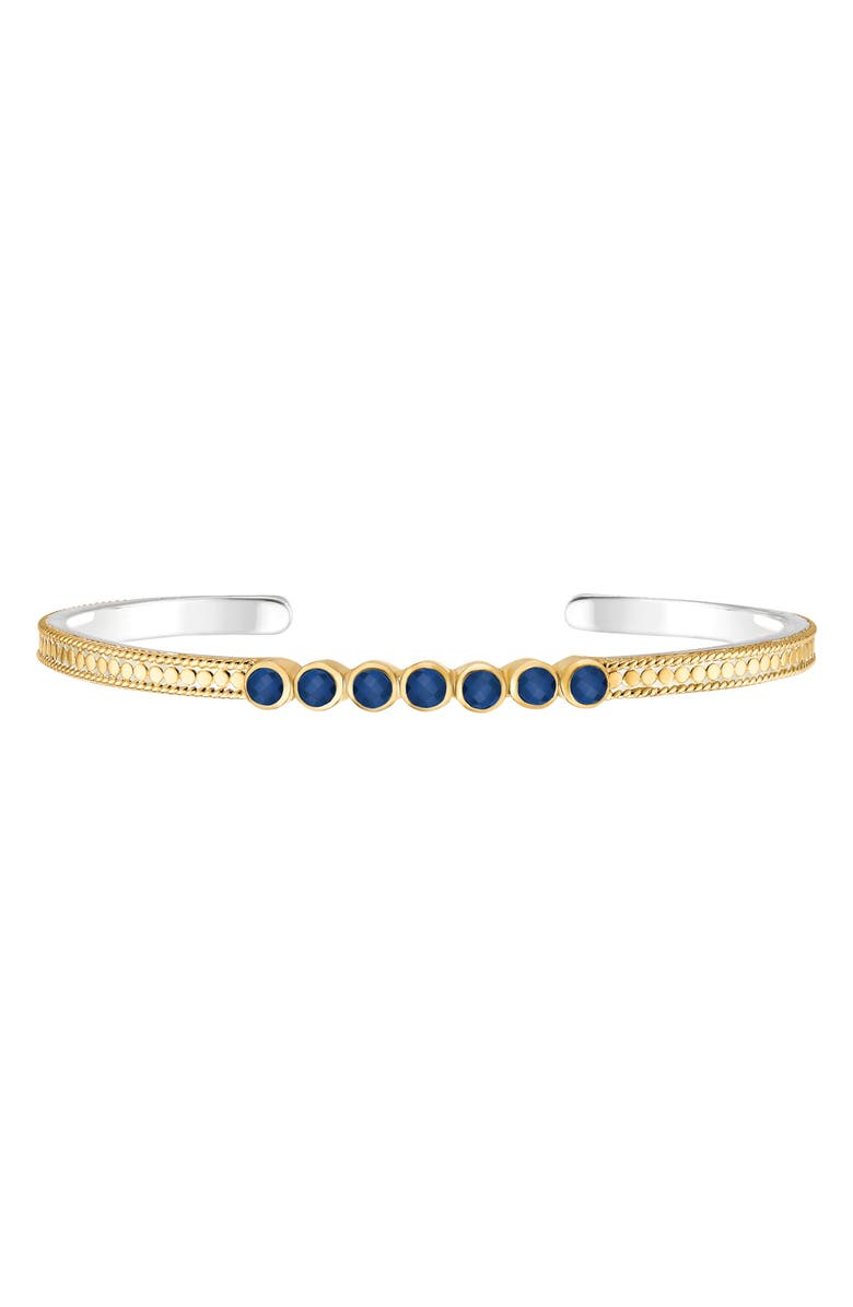 ANNA BECK Multi Stone Stacking Cuff, Main, color, GOLD/ LAPIS