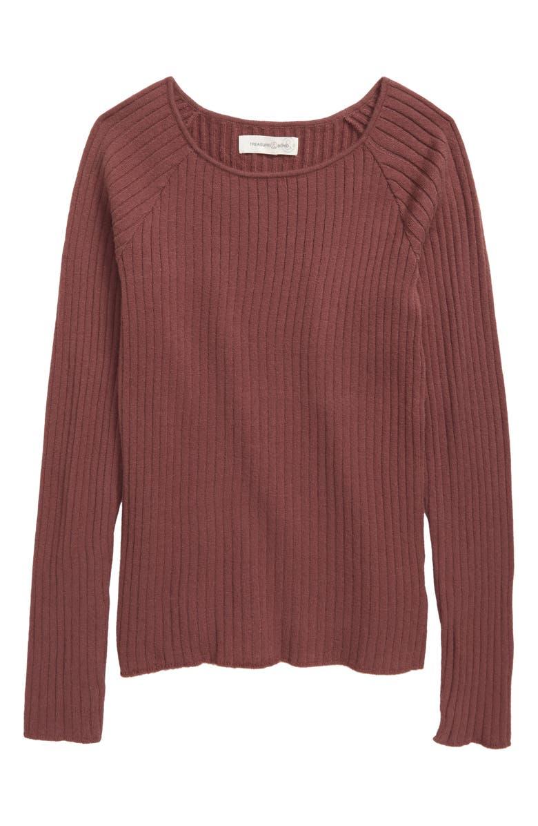 TREASURE & BOND Cozy Rib Sweater, Main, color, 510