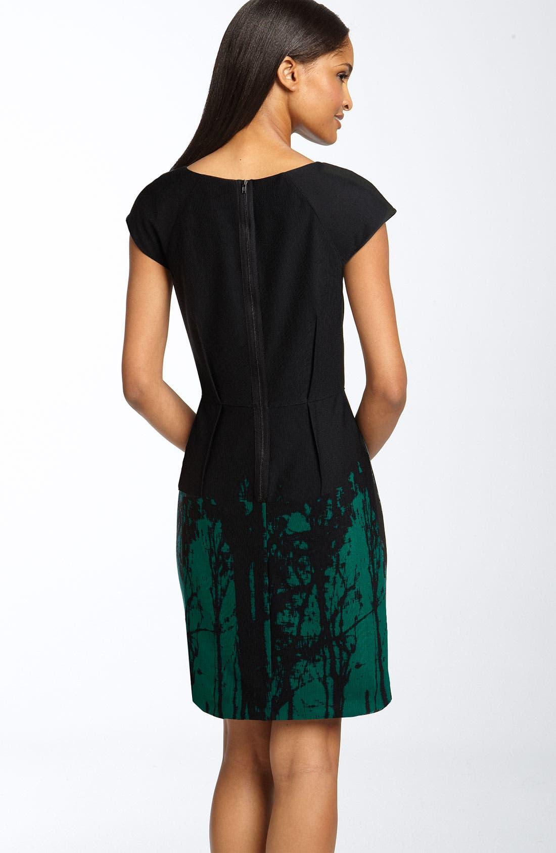 ,                             Back Zip Ponte Knit Sheath Dress,                             Alternate thumbnail 2, color,                             314