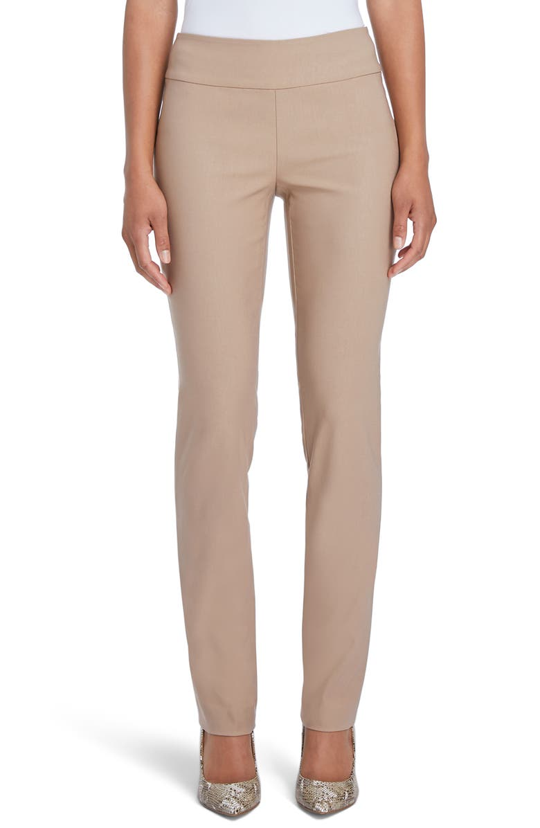 NIC+ZOE Wonderstretch Straight Leg Pants, Main, color, WARM SISAL