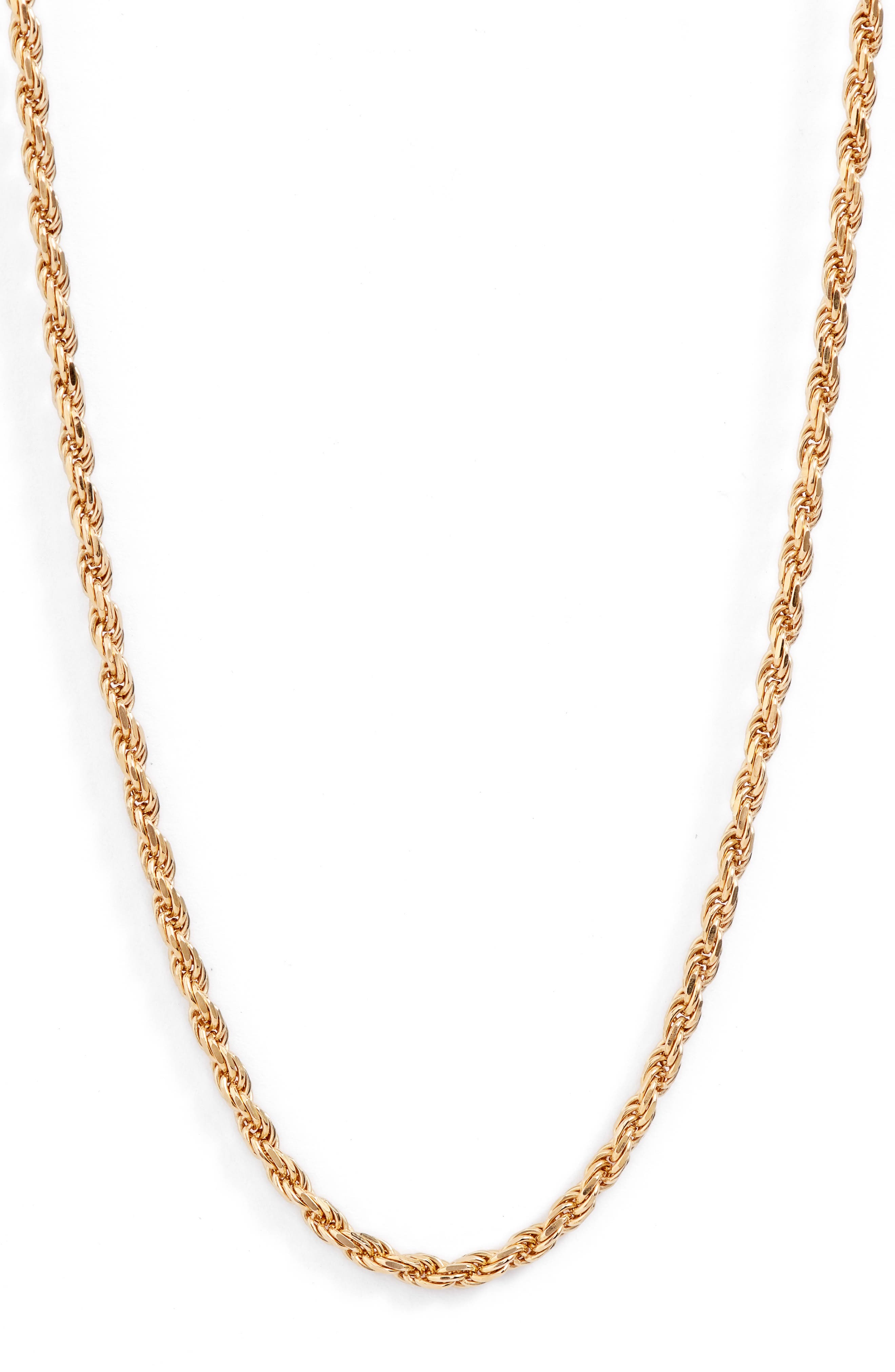 Foxtail Chain Long Necklace