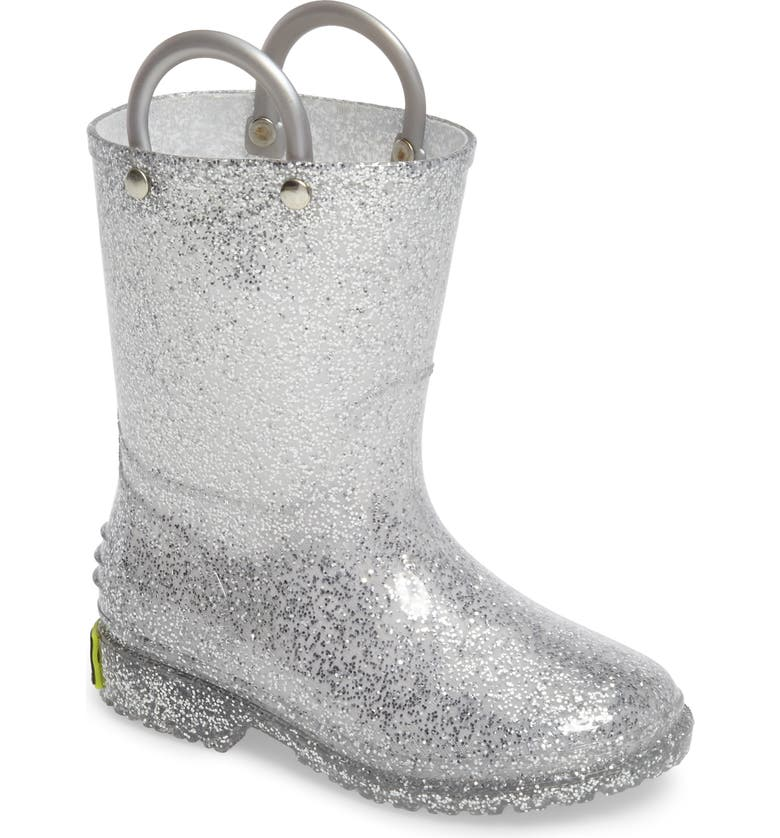 WESTERN CHIEF Glitter Waterproof Rain Boot, Main, color, 040