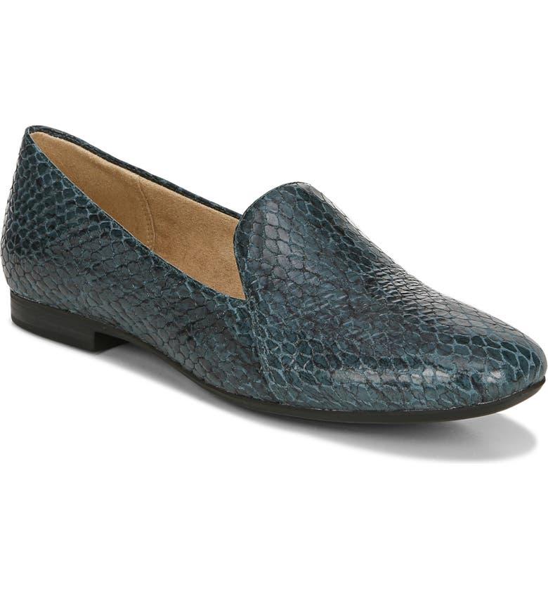NATURALIZER Emiline Flat Loafer, Main, color, BLUE LEATHER