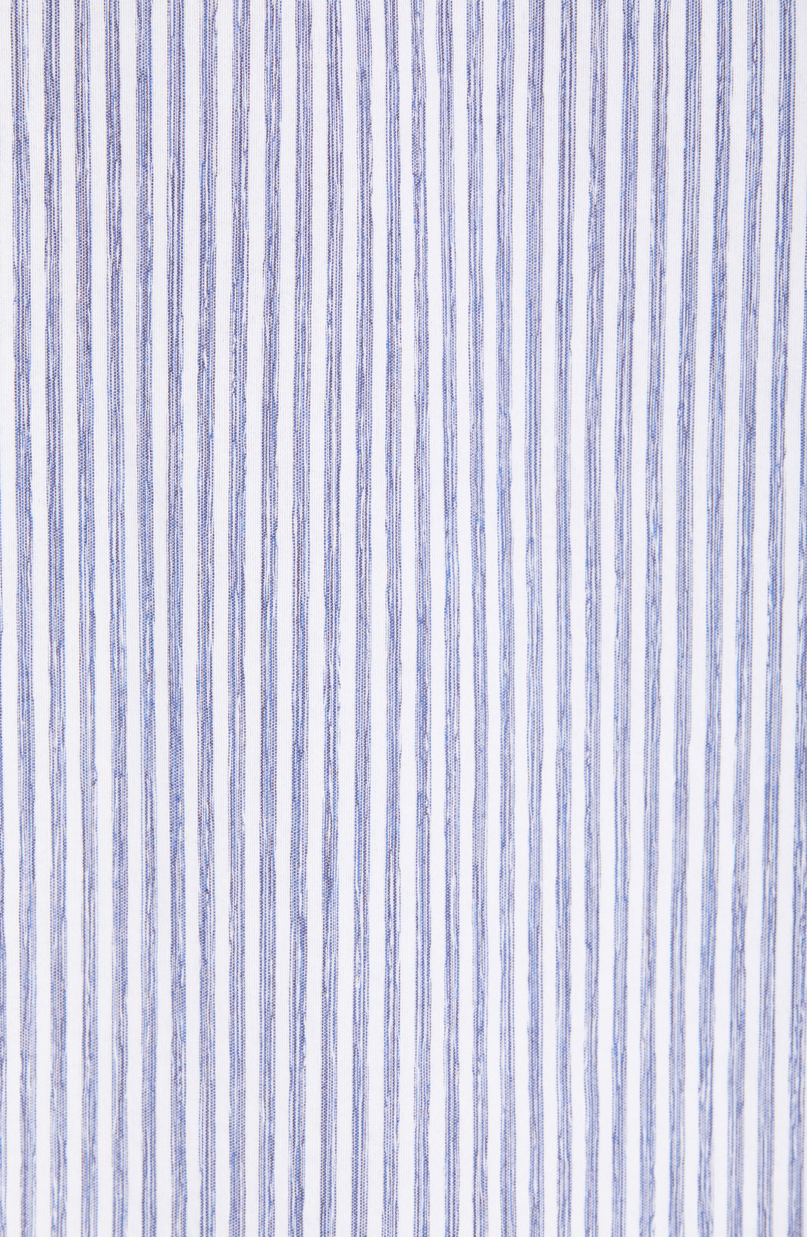 ,                             Stripe Oversize Cotton Blend Blouse,                             Alternate thumbnail 5, color,                             INDIGO