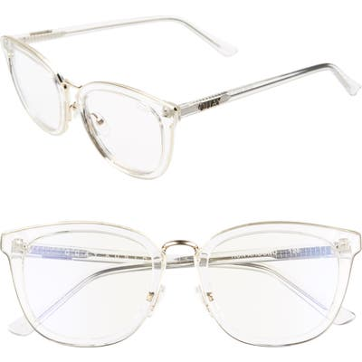 Quay Australia Run Around 5m Cat Eye Sunglasses - Clear/ Clear Blue Light