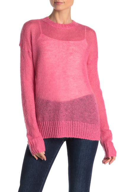 Image of French Connection Miri Sheer Pullover Sweater