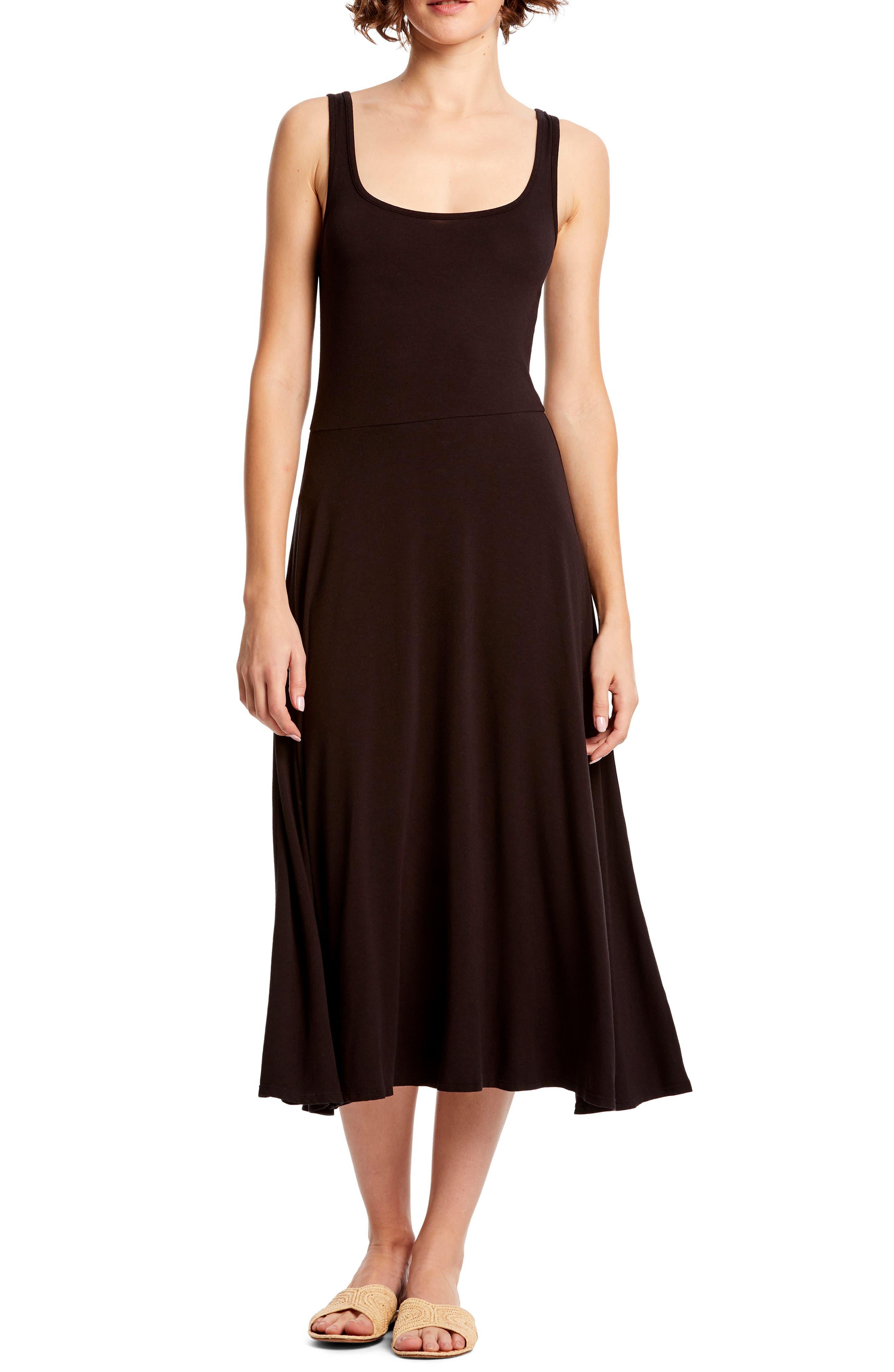 Michael Stars Willow Midi Dress, Black