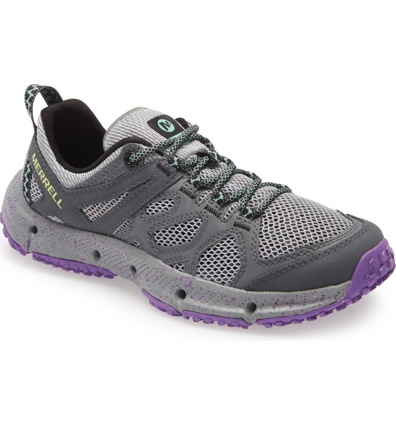 MERRELL Hydrotrekker Trail Shoe, Main, color, GREY FABRIC