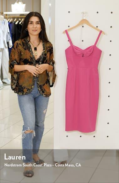 Eve Sweetheart Twist Front Sleeveless Midi Sheath Dress, sales video thumbnail