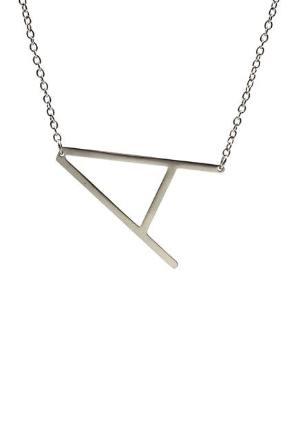 Image of Savvy Cie Rhodium Plated Initial Necklace - Multiple Letters Available