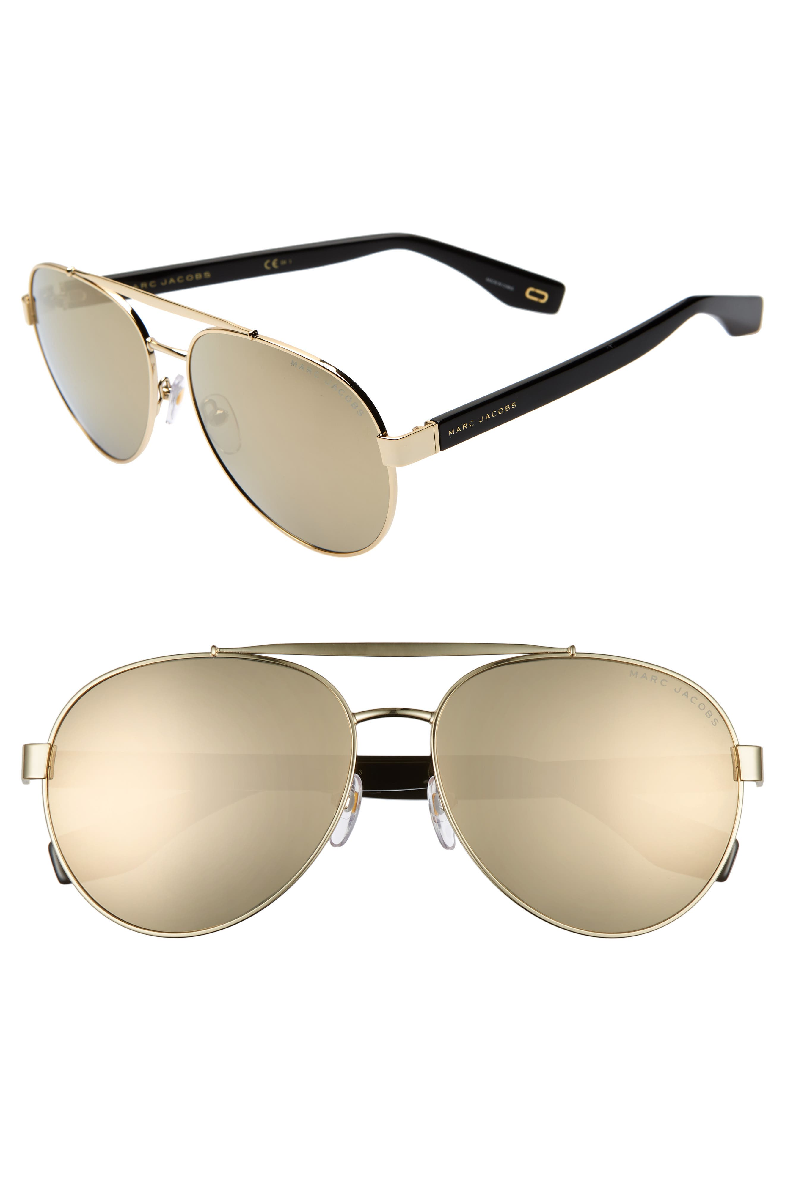 Image of THE MARC JACOBS 60mm Aviator Sunglasses