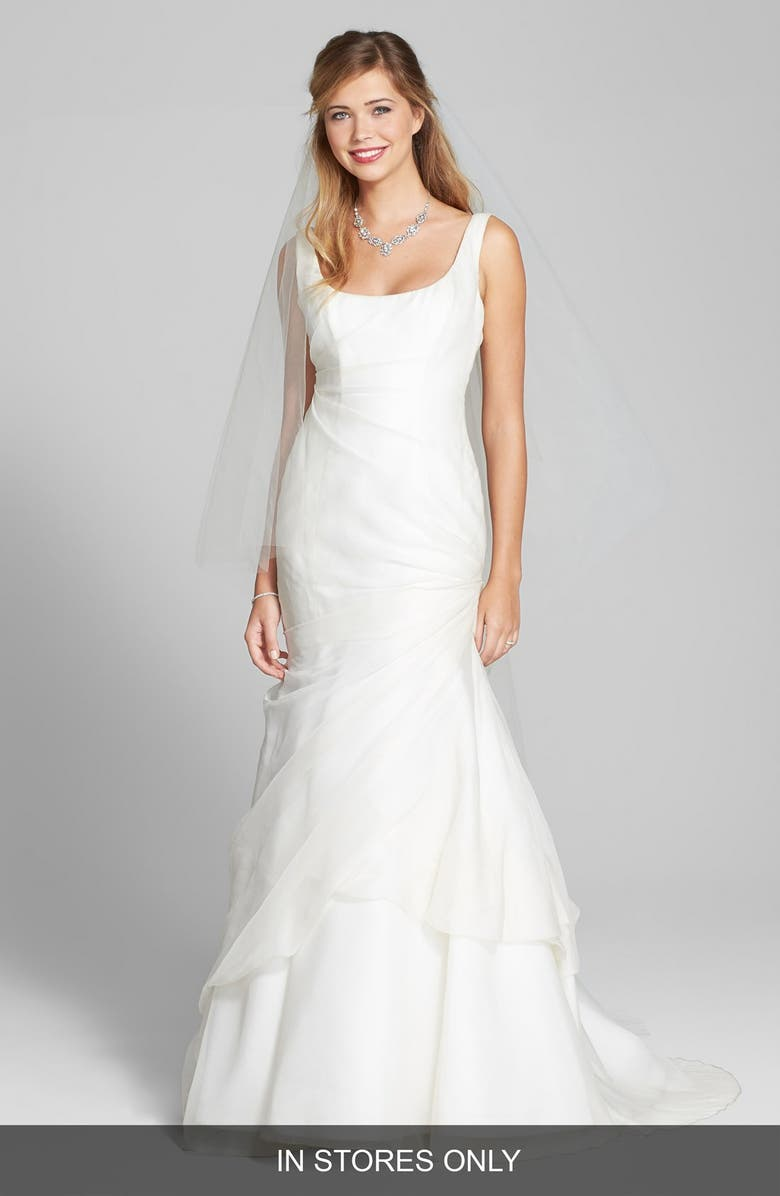 BLISS Monique Lhuillier Tufted Organza Satin Trumpet Dress In Stores Only