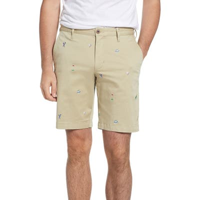 Tommy Bahama Hit The Links Embroidered Shorts, Brown