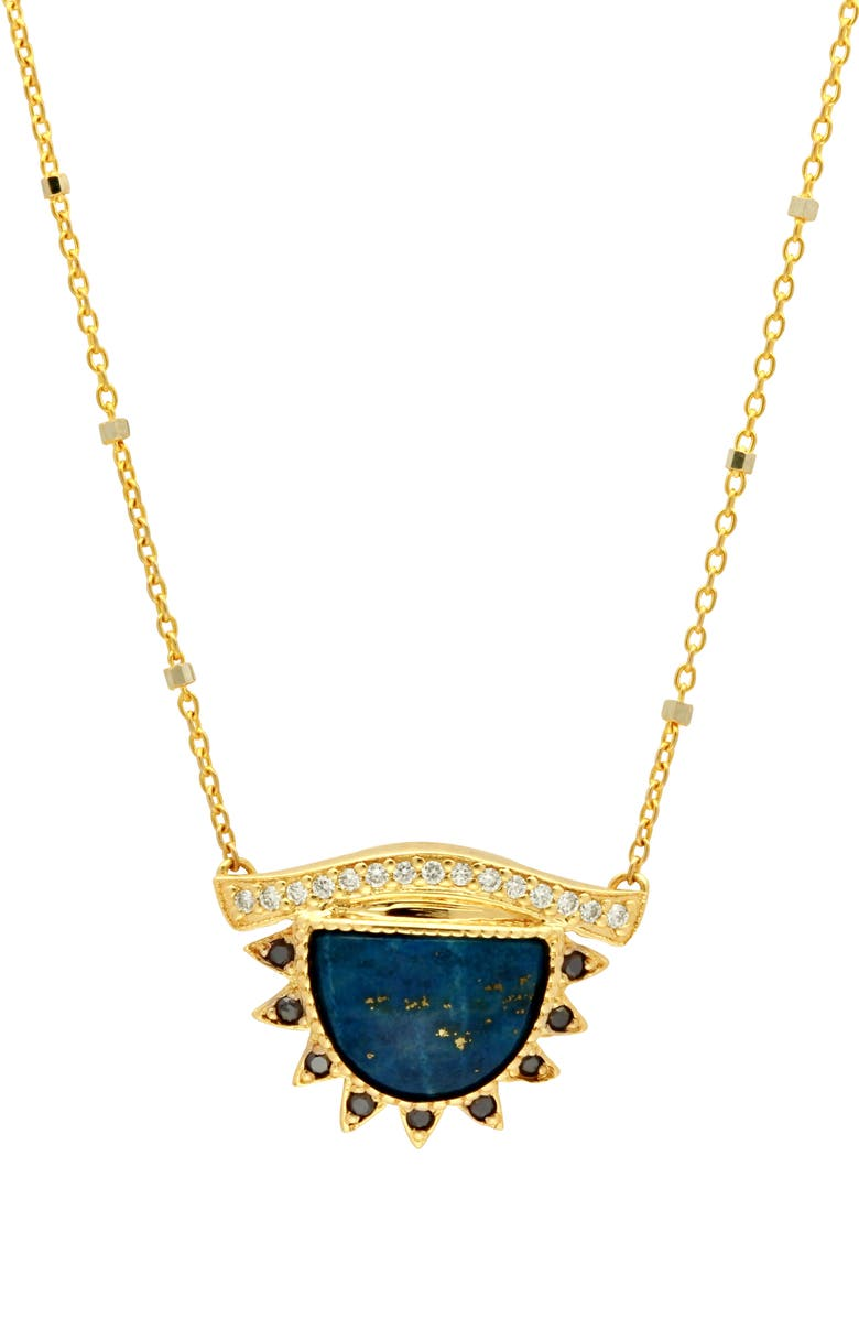 CONGÉS I Protect What I See Lapis Large Third Eye Necklace, Main, color, YELLOW GOLD