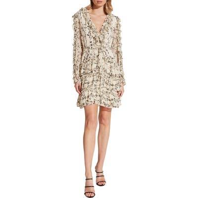 Bardot Alessia Long Sleeve Tiered Ruffle Minidress, Ivory