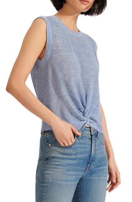 Image of VERONICA BEARD Kellen Sleeveless Linen Blend Sweater
